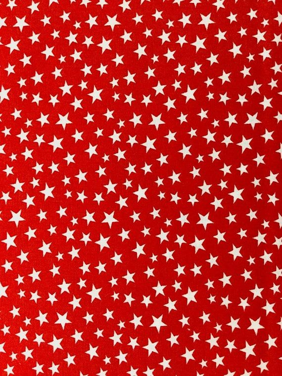 White Stars On Red Patriotic Prints Cotton Fabric Galaxy Pat 02 In 2020 Red Background Collage Background Prints