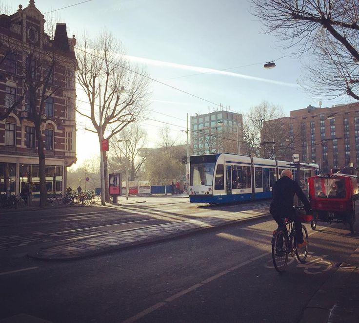 Tram.  オランダのトラム . . . #amsterdam #netherlands #holland #trip #travel #worldtraveler #townscape #scenery #tram #train #鉄分補給 #電車 #sky