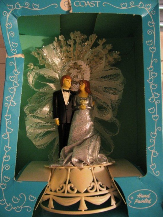 Wedding Cake Topper Vintage Wedding Cake Topper by TheIDconnection, $40.00