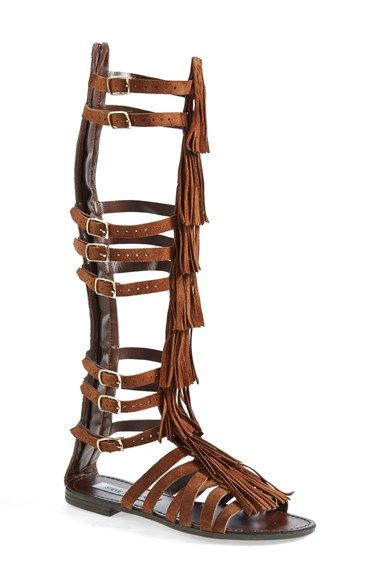 Free shipping and returns on Steve Madden 'Villano' Gladiator Sandal (Women) at Nordstrom.com. Laddered suede straps take this gladiator sandal to glamorous new heights. A back zip allows for easy entry while adjustable buckle straps provide a perfect fit all the way up the leg.