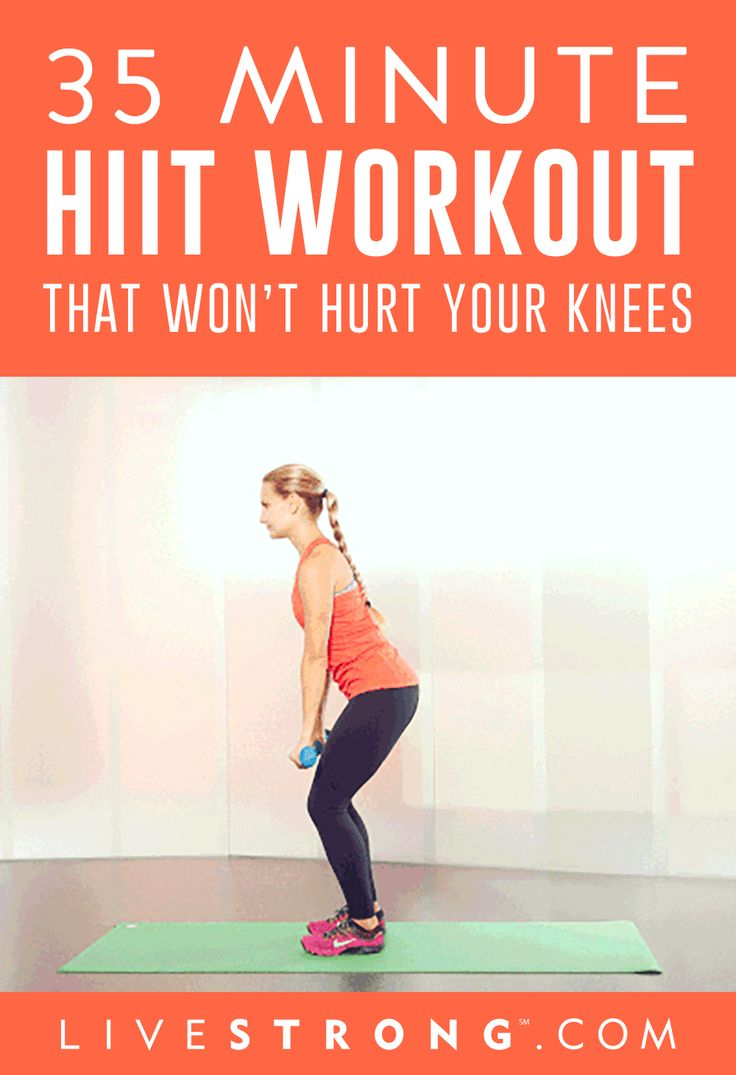 if you've suffered an injury, incorporating HIIT into your fitness regimen can be a challenge. With the help of ACE Certified Group Fitness Trainer Stephanie Thielen, we've assembled a high-octane workout that will increase your heart rate, burn some serious calories and tone you up all over -- and it's safe for your knees!