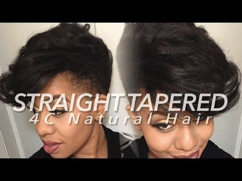 Straight Tapered Style on 4C Natural Hair - YouTube