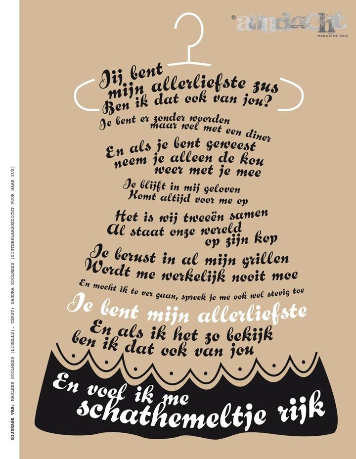 Marleen Koolmees (Libelle). Tekst: Sandra Koolmees (Sinterklaasgedicht voor haar zus) | Aandachtmagazine.nl