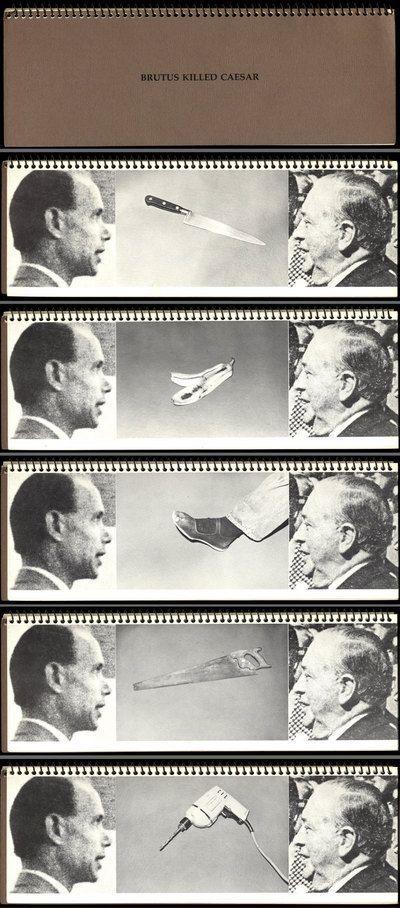 John Baldessari, Brutus Killed Caesar, 1976