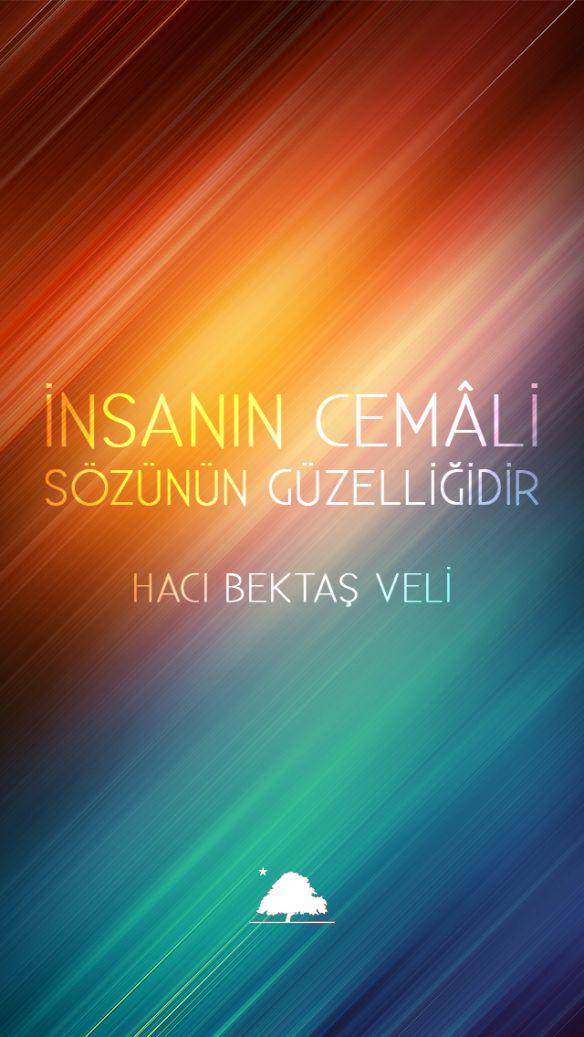 Hacı Bektaş Veli : İnsanın cemâli sözünün güzelliğidir. - Anadolu Çınarları poster