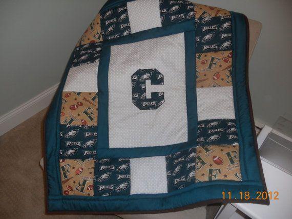 Customized Football Quilt Philadelphia Eagles by memomslove, $65.00