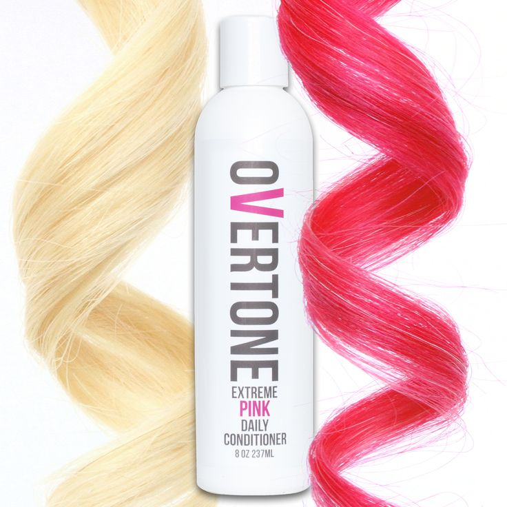 oVertone Extreme Pink Daily Conditioner is a damage-free way to add color to your hair and keep the color looking fresh 24/7.