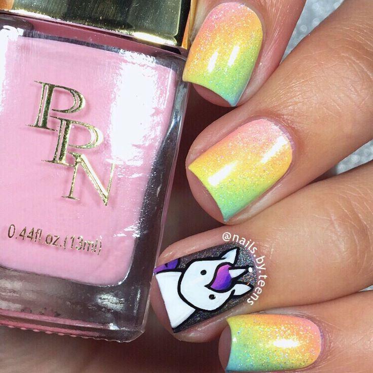 Unicorn nails   Rainbow nails