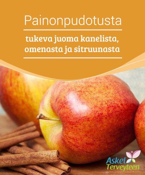 Painonpudotusta tukeva juoma kanelista, omenasta ja sitruunasta   #Kanelivesi on #erinomainen valinta, jos haluat päästä eroon kehosi #ylimääräisestä rasvasta.  #Laihduttaminen