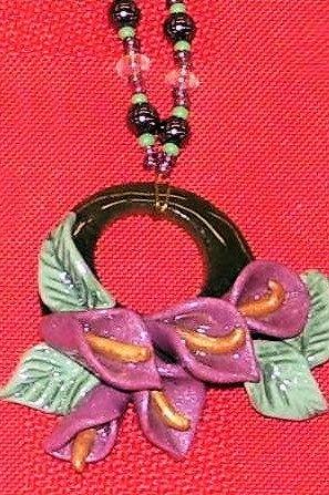 Calla lily on jade  www.facebook.com/teristreasures
