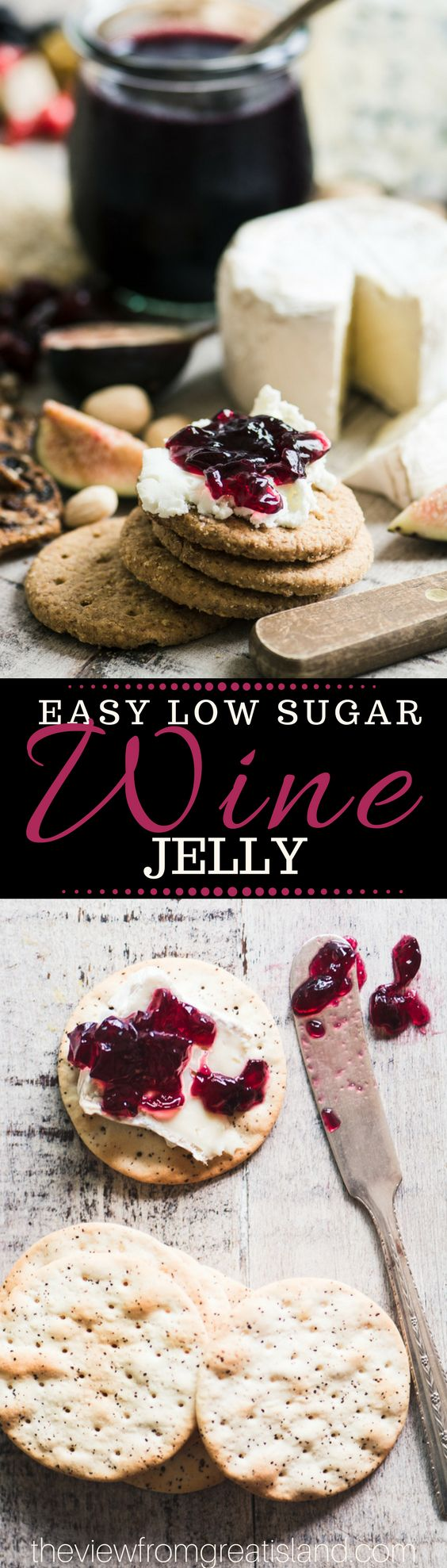This Easy Low Sugar Wine Jelly Recipe is a joy to make,