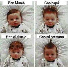 Peinados del bebé #videowhatsapp #funny #divertidos