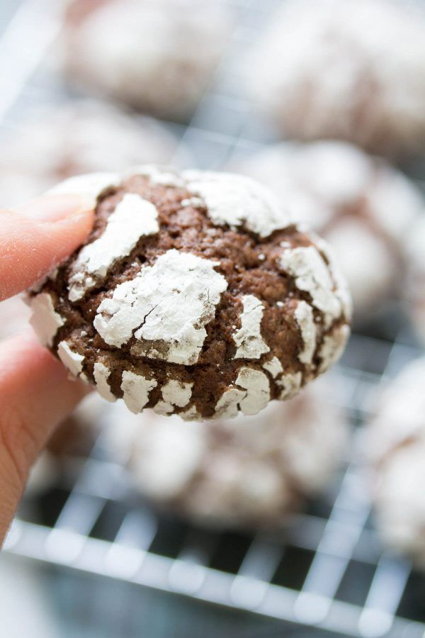 Fudgy Chocolate Crinkle Cookies Are A Christmas Cookie Favorite