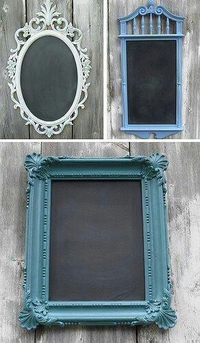 Use an old pic frame for a cool new take on kids chalkboard or for yourself to put ideas or daily inspirational messages