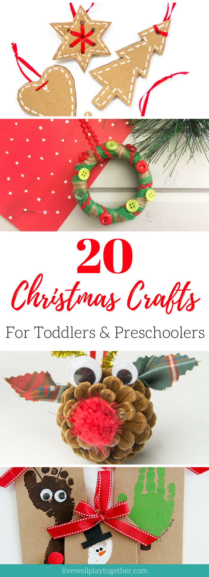 20 Simple Christmas Crafts for Toddlers and Preschoolers that You Can Do at Home #christmas #crafts #toddlercrafts #preschool #preschoolcrafts #christmascrafts