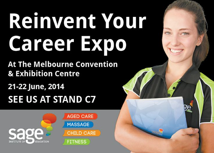 Thinking about a career change? This is THE event not to be missed, so make sure you pop this one in your calendar! http://www.sagemassage.edu.au/blog/reinvent-your-career-expo/