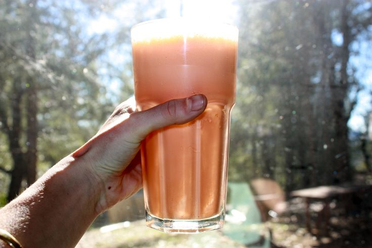 Orange carrot smoothie ✌