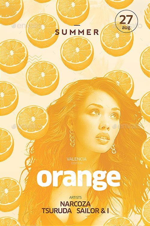 Orange Summer Flyer and Poster Design…