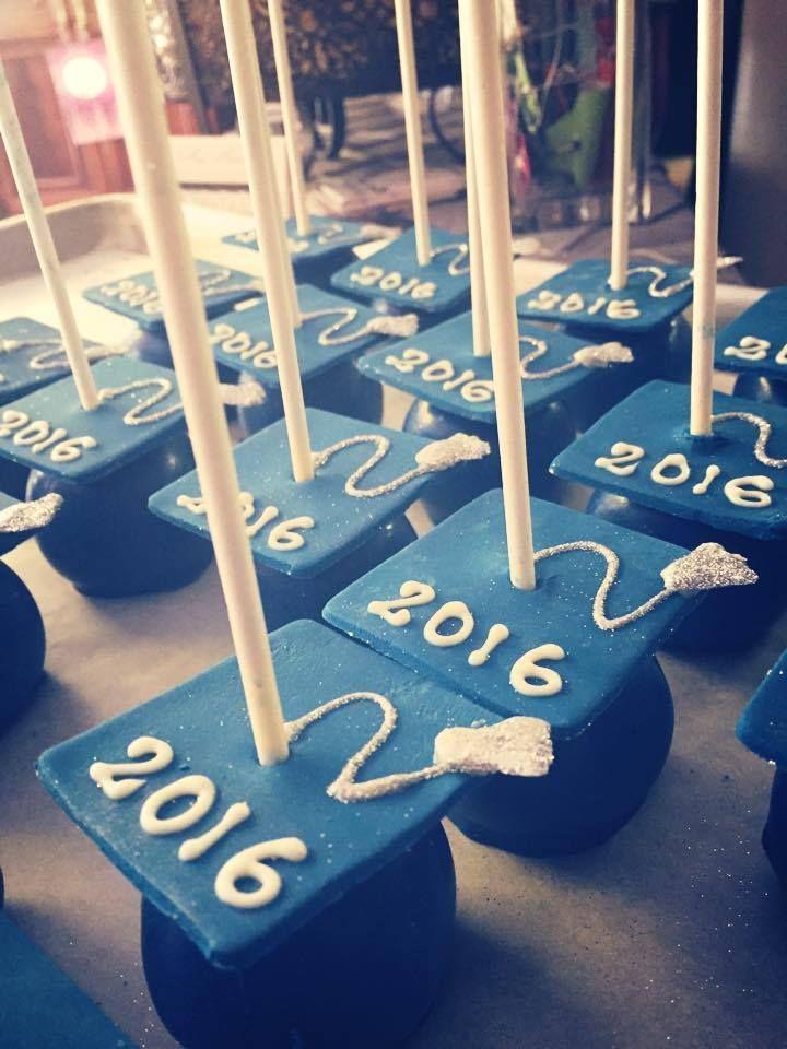 Graduation Cap Cake Pops @Craftsy
