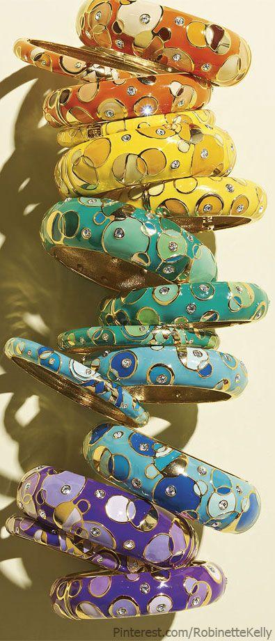 'Kandinsky' Medium Enamel Bangle