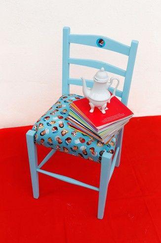 Una pequeña silla de película. Siempre bella y soñadora.  #silla: $55.000