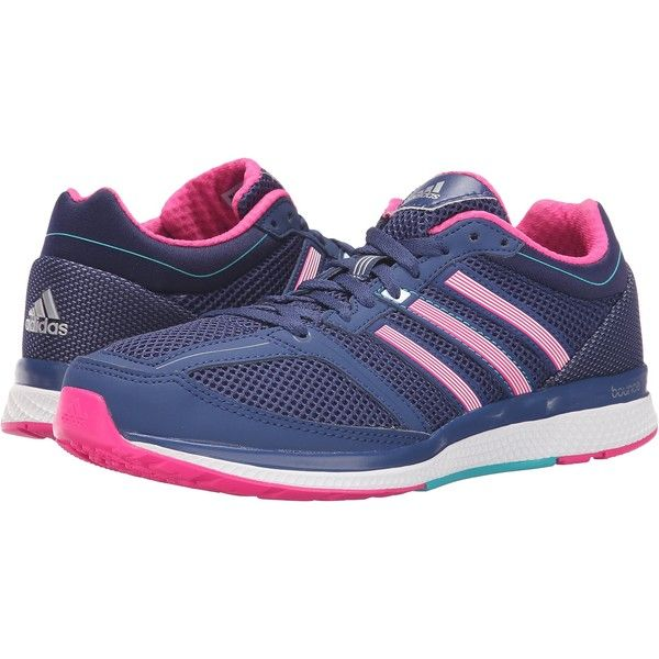 adidas Zero Bounce (Mineral Blue/Silver Metallic/Shock Green) Women's... ($41) ❤ liked on Polyvore featuring shoes, athletic shoes, blue, blue running shoes, green athletic shoes, lightweight running shoes, adidas footwear and light weight running shoes
