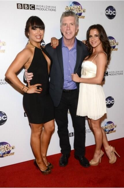 Tom_Bergeron: In good company with Cheryl Burke and Kelly Monaco at the DWTS 300 Party