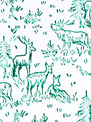 FORREST GREEN DEER WRAPPING PAPER  www.thebirdhousecollection.com.au