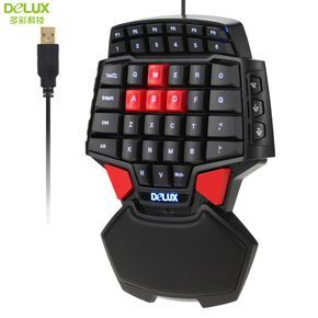 Delux T9 47-Key Professional One/Single Hand USB Wired Esport Gaming Keyboard with 3-level LED Backlit Illuminated Backlight //Price: $83.97 & FREE Shipping //  #play #playing #screen #iphone #iphoneonly #apple #ios  #phone #smartphone #mobile