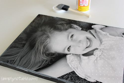 Print your pic on tissue paper to make it even less expensive.....