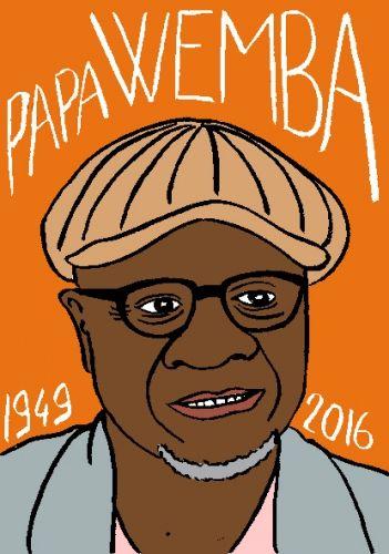 mort de papa wemba, dessin, portrait, laurent jacquy,répertoire des macchabées célèbres,mort d'homme,