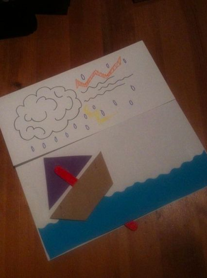 Simple craft relating to the story of Jesus calming the storm. The sea is only stuck on the sides so that the boat can rock in the storm! ...