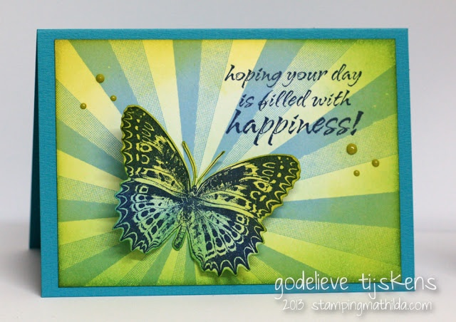 Darkroom Door Sunshine Background Stamp DDBS033. Card created by Godelieve Tijskens.