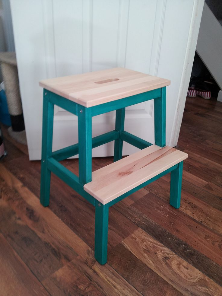 Ikea BEKVAM Step Stool make over. Frame painted using Annie Sloan, steps waxed.