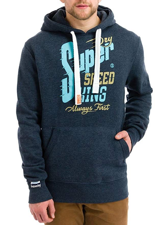 52bd870e63a0 Affiliate  Superdry Men s Speed Kings Tin Tab Hooded Sweatshirt ...