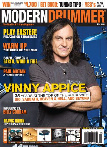 Vinny Appice on the May 2012 Issue of Modern Drummer magazine