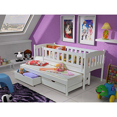 JUSThome Sara IV Funktionsbett Kinderbett Jugendbett Wei� 188x87x80 cm