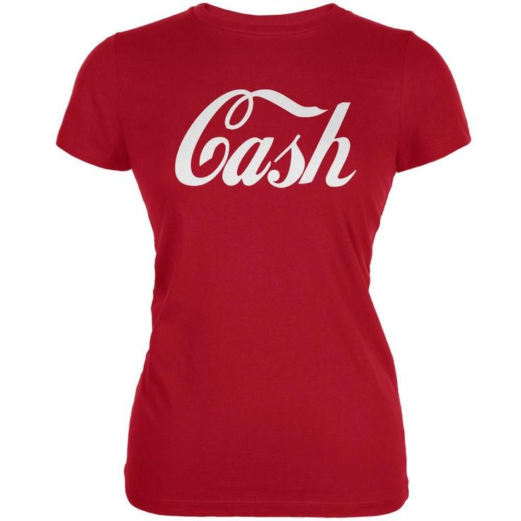 Cash Inspired By Jack White Red Juniors Soft T-Shirt