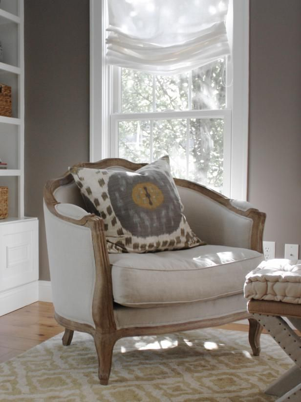Love the roman shade! Color crush- Camel and gray - The Enchanted Home 3/31TU953P
