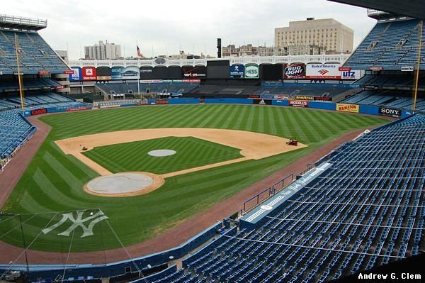 Now that's a seat! Beautiful view of #Yankee #Stadium!