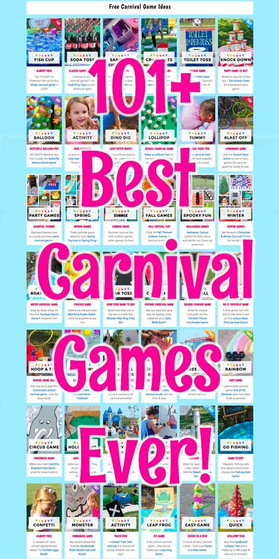 Plan the BEST Carnival Ever with these kid-tested games. Everything from traditional, easy, DIY and Unique games you will not find anywhere else!!