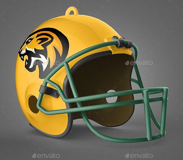 Realistic Football Helmet Mockup Football Helmets Helmet Mountain Bike Helmets