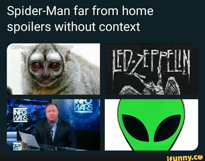 Spider Man Far From Home Spoilers Without Context Ifunny Marvel Funny Marvel Memes Spiderman