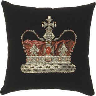 Royal Crown Cushion - made in Australia from jacquard tapestry woven in Europe ($89.95)