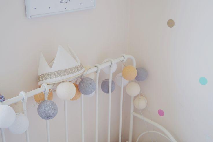 Cotton balls, dekoracje pokoju dziecięcego