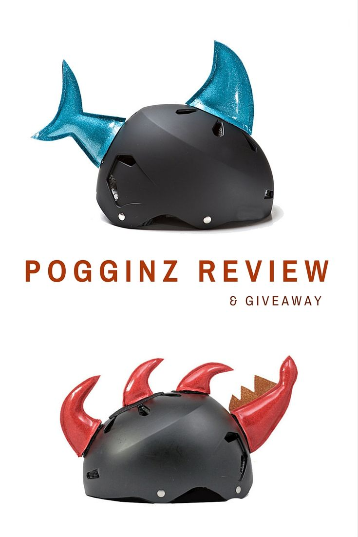Review of Pogginz Helmet Accessories and a #giveaway!