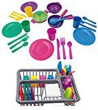 Imagine Play Kitchen Set for Kids Cooking area Toys Tableware Dishes Playset along with Drainer (27 Pcs )