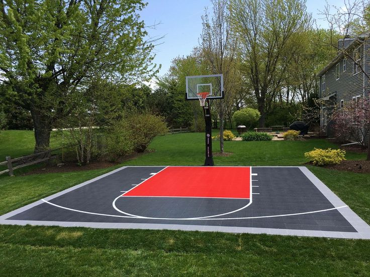 32 best images about backyard basketball courts on for How to build a basketball court at home