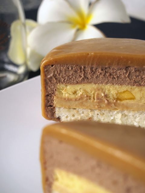 Entremet - Chocolate Mousse, Mango Vanilla Cream, Caramel Crémeux, Lime, Almond Sponge, by Top Chef:Just Desssert contestant, Sally Camacho