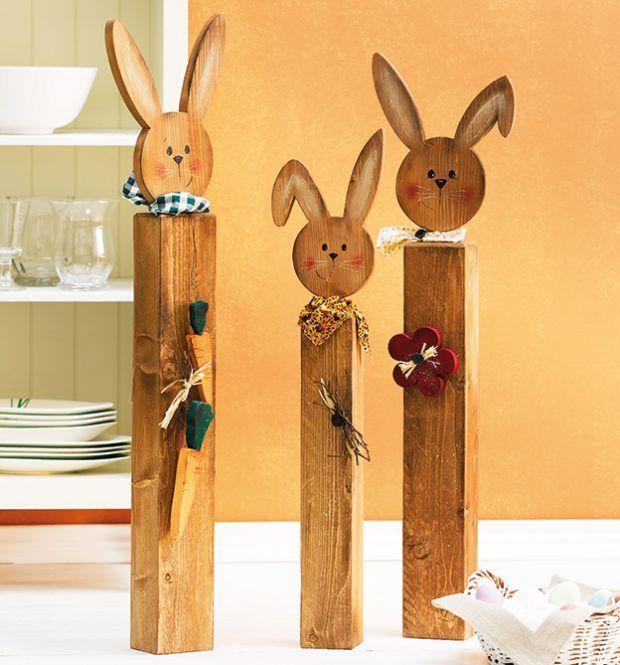 Holzpfosten dekorativ verziert | TOPP Bastelbücher online kaufen
